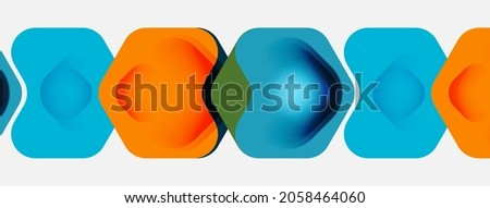 Color arrow shapes on white backdrop. Minimal geometric abstract background. Vector illustration for wallpaper banner background or landing page