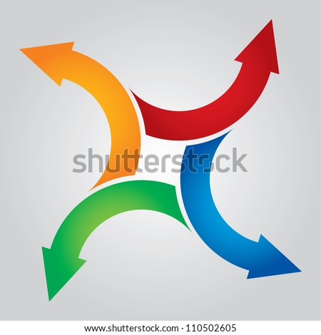 Color arrows pointing in different directions