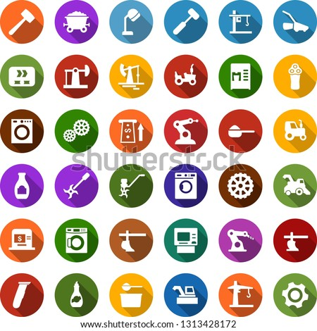 color back flat icon set