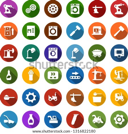 color back flat icon set