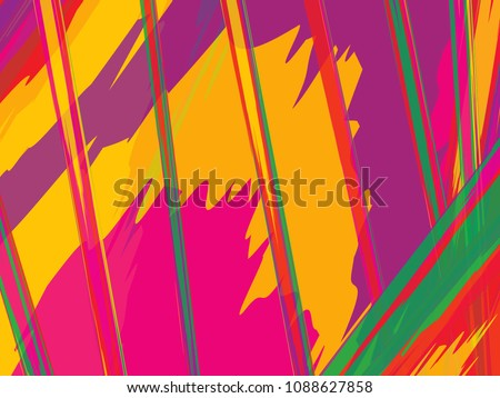 Color background. Colorful vector illustration. Backdrop texture of paint brush stroke. Painted watercolor pattern. - Shutterstock ID 1088627858