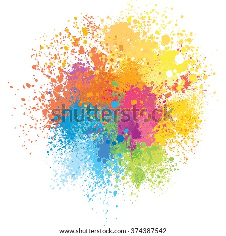 color background of paint