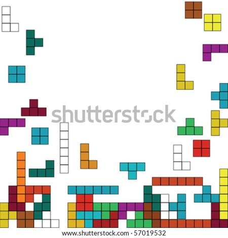 Color background with geometrical shapes design