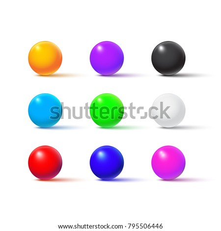 color balls isolated on white