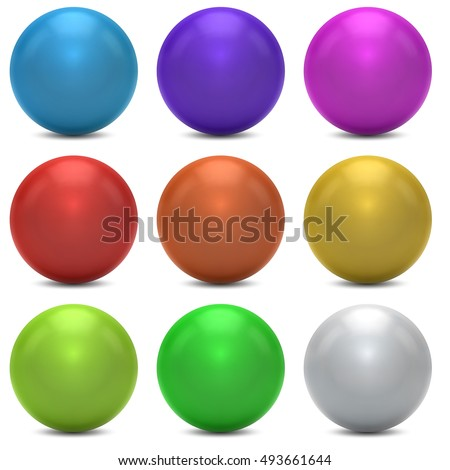 color balls vector set isolated