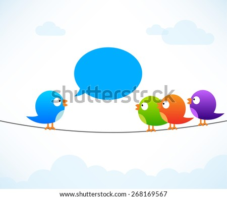 Color birds on wire