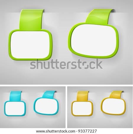 Color Blank Banner Display Template Set For Design Work  - Vector Illustration