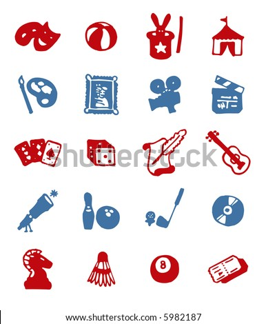 color block icons - leisure - others of same series : http://www.shutterstock.com/lightboxes.mhtml?lightbox_id=499072