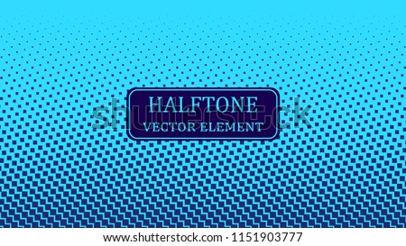 Color blue gradient halftone. Abstract halftone background. Vector illustration. Black circles.