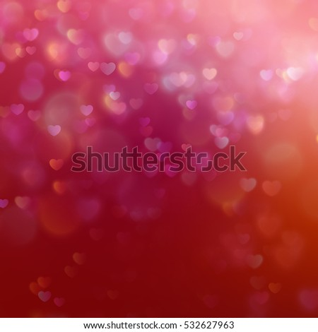 color bokeh on a red background