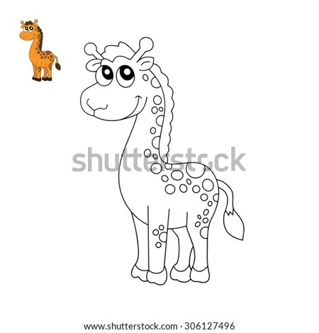 Color book Giraffe