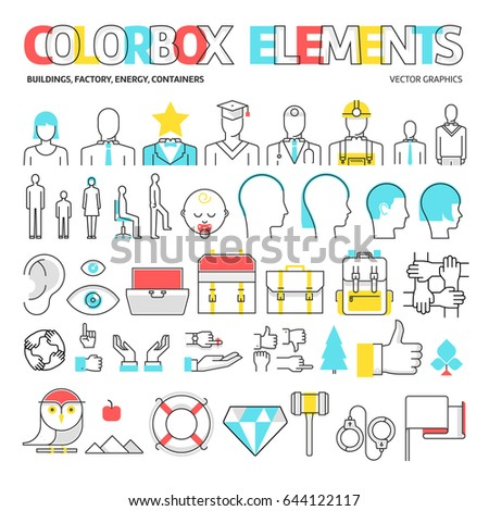color box icons  elements