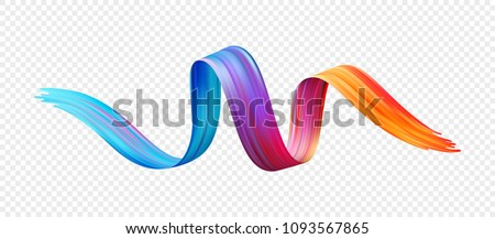 Color brushstroke oil or acrylic paint design element. Vector illustration EPS10