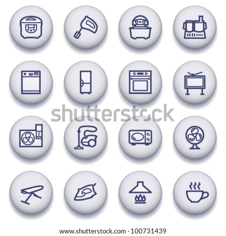 Color buttons with contour icons 16