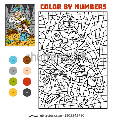 color by number  education game