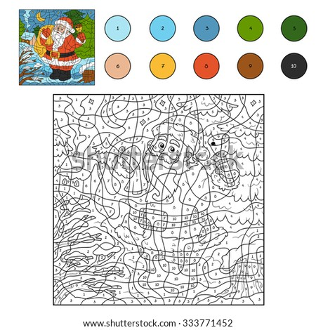 color by number  game for