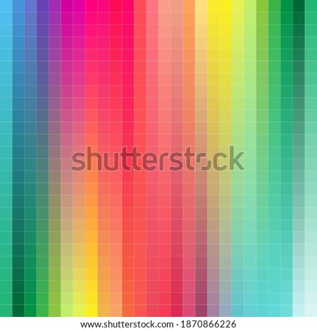 color chart designer tool texture pattern background. Color table Pan tone of the Fashion, Home and Interiors colors. Color palette with number, named color swatches, chart conform to pan tone RGB