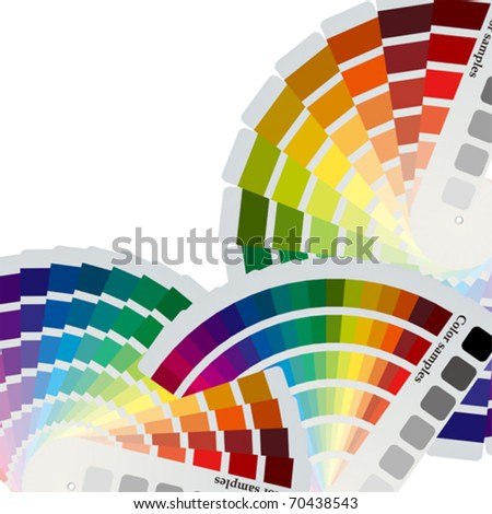 Color charts background. Illustration vector.