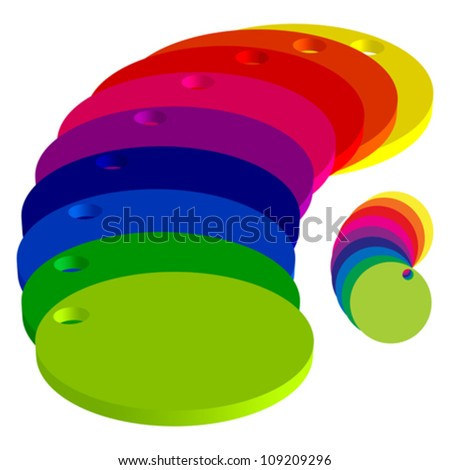 color circles against white background, abstract vector art illustration