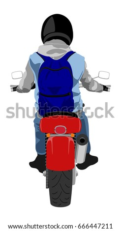 color classic motorcycle with