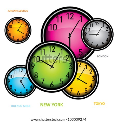 Color clocks concept.