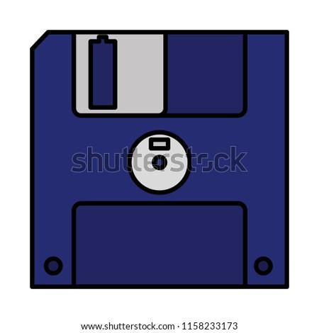 color diskette retro computer data media