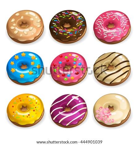 color donuts set 3