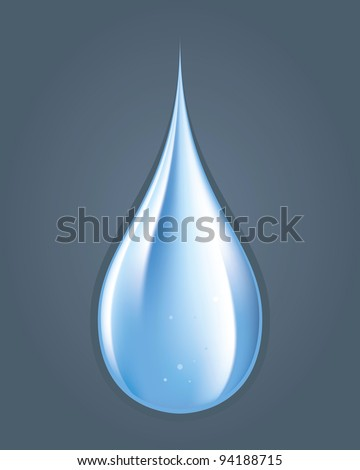 Color drawing of a drop of water on the floor - stock vector
