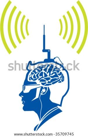 Color (dutone) brain activity radio signal