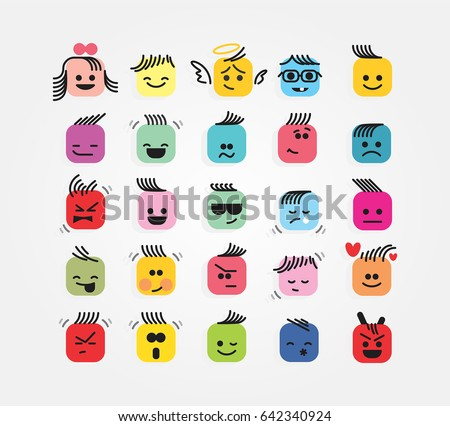 color emotions icons
