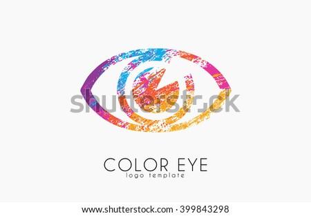Color eye logo. Eye logo. Creative logo