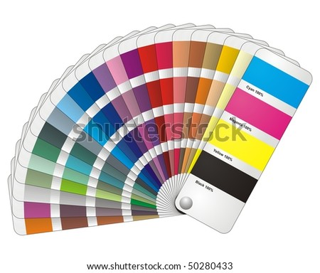 Color fantail vector