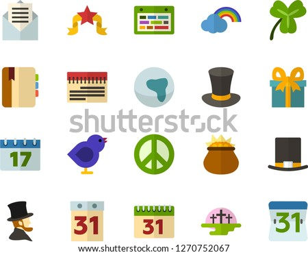color flat icon set   africa