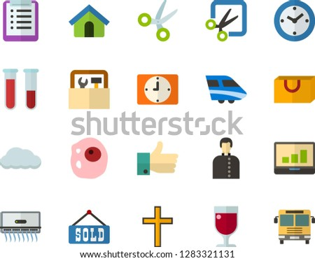 color flat icon set   church