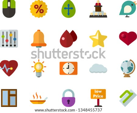 color flat icon set   easter