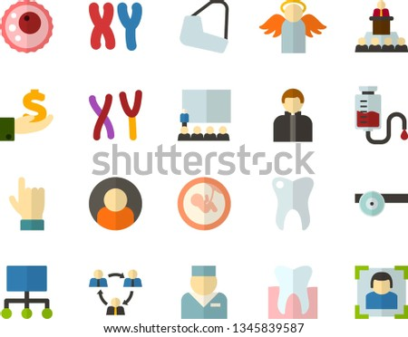 color flat icon set   holy