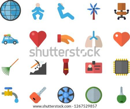 color flat icon set potholder
