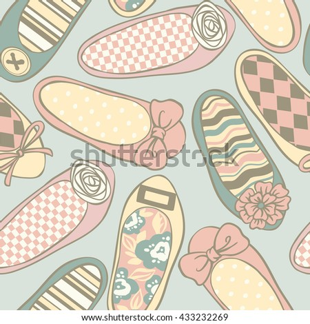 color flat shoes vector