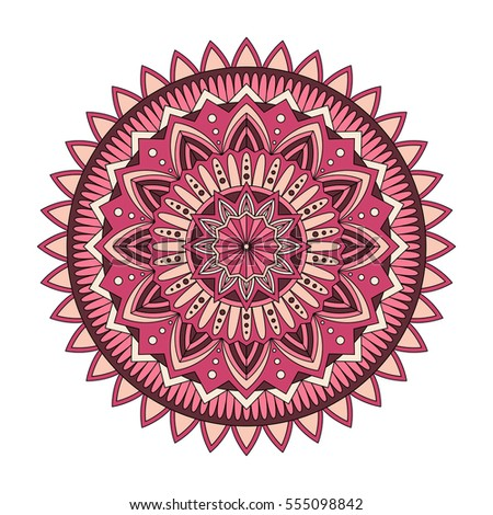 Color floral mandala, vector illustration