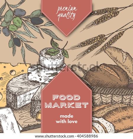 color food market label