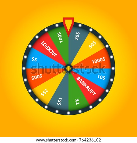 Color fortune wheel. Vector illustration. Lucky roulette