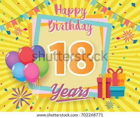 18th birthday background download free vector art stock graphics