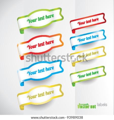 color full vector labels