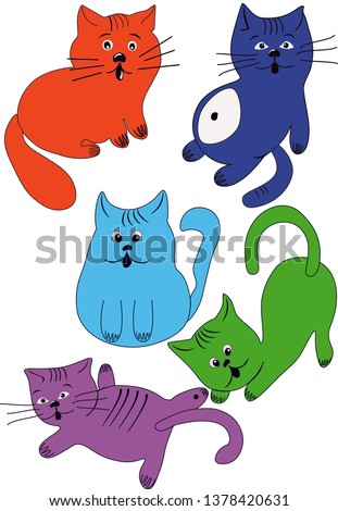 color funny cats