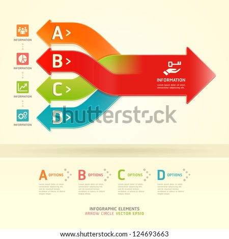 Color Gears Infographics Options Banner. Vector illustration. can be used for workflow layout, diagram, step options , number Options, web design, infographics.