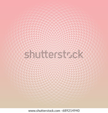 Color gradient background. Circular Fractal Geometric Design Template. Digital flower. Template for prints, covers, flyers, posters, placards and banner designs. Vector illustration.