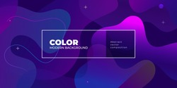 Color gradient background design. Abstract geometric background with liquid shapes. Cool background design for posters. Eps10 vector illustration.