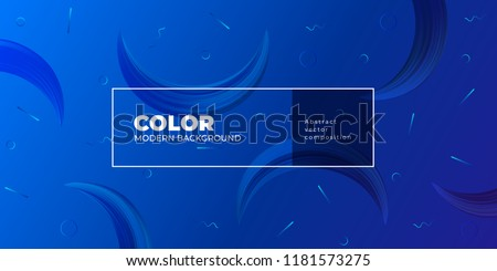 Color gradient background design. Abstract geometric background with moon shapes. Cool background design for posters. Eps10 vector illustration #1181573275