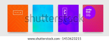 Color gradient pattern background, abstract geometric shape texture. Vector cover graphic design, geometric line minimal pattern background