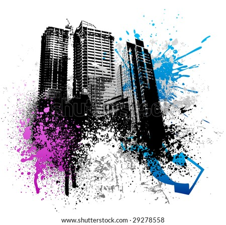 Lak------------------ Stock-vector-color-graffiti-and-paint-splatter-grunge-city-image-29278558